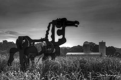 The Iron Horse Classic Black And White  Print by Reid Callaway