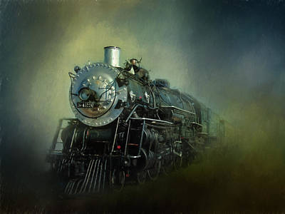Steam Locomotive Photograph - The Iron Horse by David and Carol Kelly