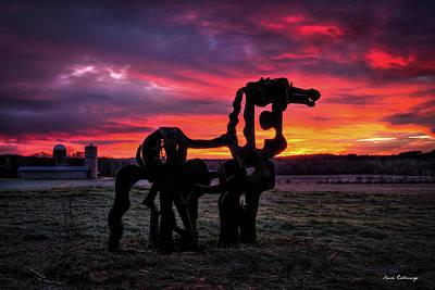 The Iron Horse Sun Up Print by Reid Callaway