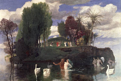 Arnold Painting - The Island Of The Living by Arnold Bocklin