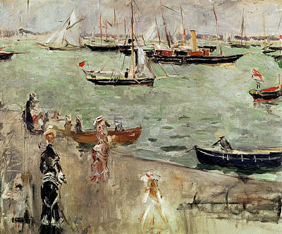 Quayside Painting - The Isle Of Wight by Berthe Morisot