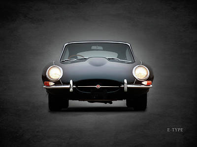 The Jaguar E Type Print by Mark Rogan