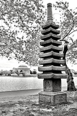 The Japanese Pagoda Print by Olivier Le Queinec