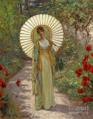 Hennessy Painting - The Japanese Parasol  by William John Hennessy
