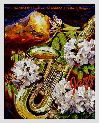 Rhodes Painting - The Jazz Poster That Never Was by Mike Hill