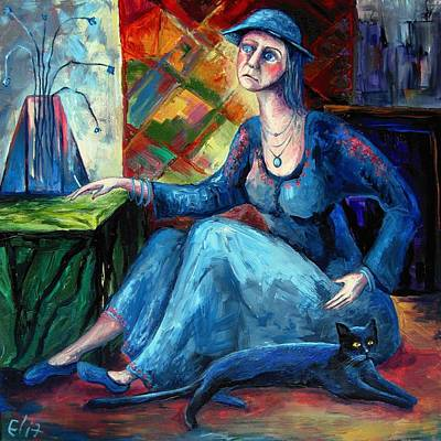 The Jeans Girl. 20 Years Later Print by Elisheva Nesis