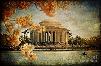 Jefferson Memorial Digital Art - The Jefferson Memorial by Lois Bryan