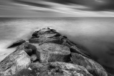 The Jetty Bw Print by Bill Wakeley