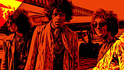 The Jimi Hendrix Experience Collection Print by Marvin Blaine