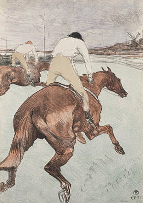 Jockey Drawing - The Jockey by Henri de Toulouse-Lautrec