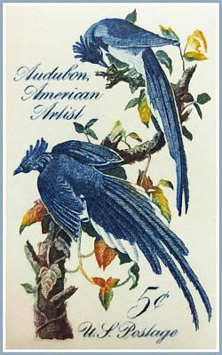 The John James Audubon Stamp Print by Lanjee Chee