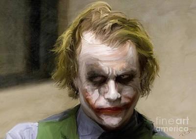 Batman Painting - The Joker - Dark Knight by Paul Tagliamonte