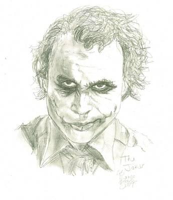 Heath Ledger Drawing - The Joker / Heath Ledger by Renee Kilburn