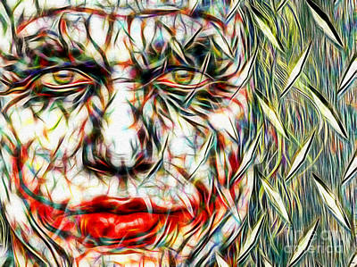 Heath Ledger Mixed Media - The Joker In Color by Daniel Janda