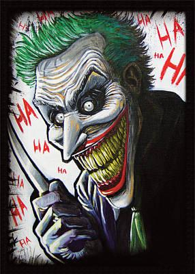 Heath Ledger Painting - The Joker  by Matthew Tillett