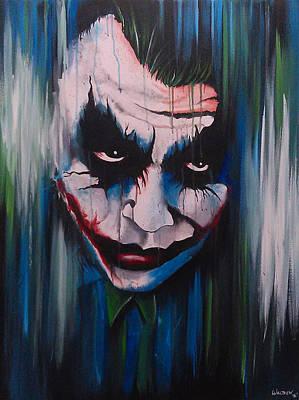 Heath Ledger Painting - The Joker by Michael Walden