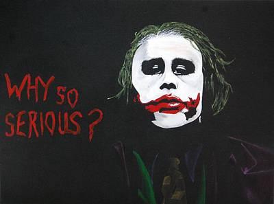 Heath Ledger Painting - The Joker by Mr Minor