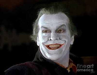 Jack Nicholson Painting - The Joker by Paul Tagliamonte