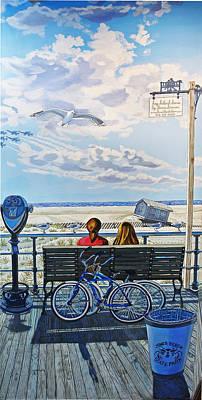 Angel Island State Park Painting - The Jones Beach Boardwalk by Bonnie Siracusa