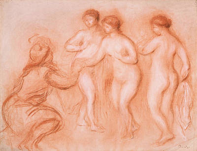 Impressionism Drawing - The Judgement Of Paris by Auguste Renoir