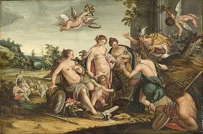 Painting - The Judgement Of Paris by Hans von Aachen