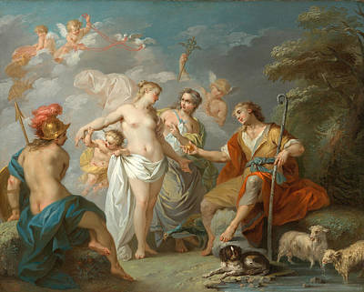 Etienne Jeaurat Painting - The Judgment Of Paris by Etienne Jeaurat