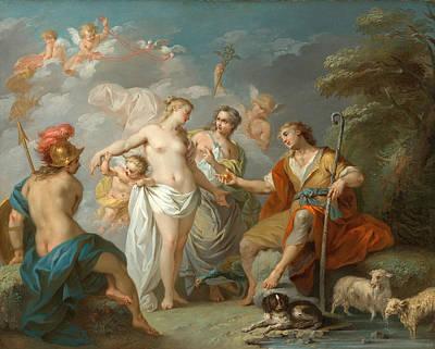 Etienne Jeaurat Painting - The Judgment Of Paris by Etienne Jeaurat