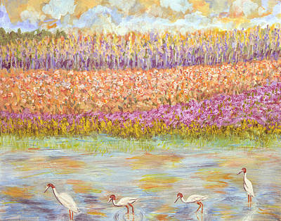 Floral Digital Art Drawing - The Kaas Lake by Thecla Correya
