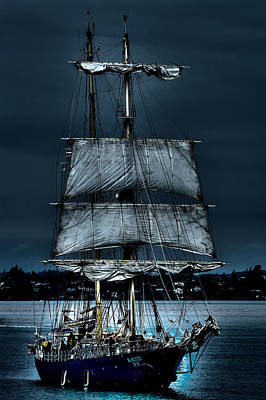 Seascape Photograph - The Kaisei Brigantine Tall Ship by David Patterson
