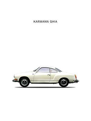 Beetle Photograph - The Karmann Ghia by Mark Rogan