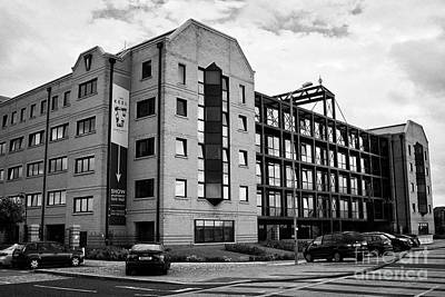 the keel apartments building converted from commercial property queens dock Liverpool Merseyside UK Print by Joe Fox