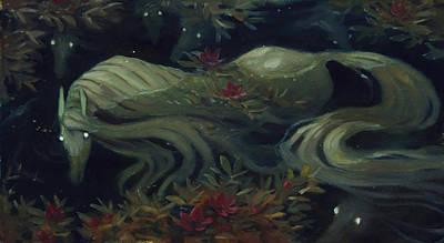 Kelpie Painting - The Kelpie Pond by Jaimie Whitbread