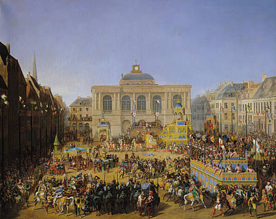 The Kermesse At Saint-omer In 1846 Print by Auguste Jacques Regnier