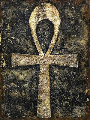 Ankh Painting - The Key Of Life by Ramel Jasir
