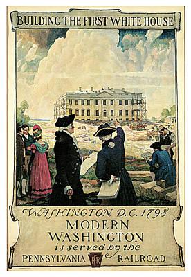 The Keystone Pennsylvania Railroad Print by N C Wyeth