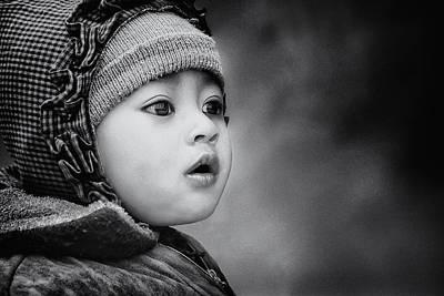 Children Portraits Photograph - The Kid From Sarangkot by Piet Flour