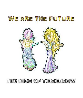 The Kids Of Tomorrow Ariel And Darla Print by Shawn Dall