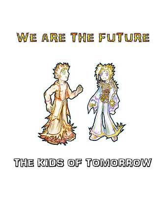 The Kids Of Tomorrow Corie And Albert Print by Shawn Dall