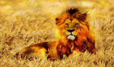 Nature Painting - The King by George Rossidis