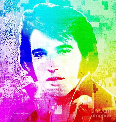 Photograph - Elvis Presley In Pop Art by Annie Zeno