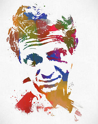 The King Of Cool Paint Splatter Print by Dan Sproul