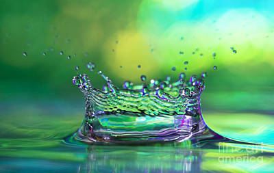 Rain Drops Photograph - The Kings Crown by Darren Fisher