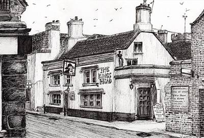 Architecture Drawing - The Kings Head by Vincent Alexander Booth