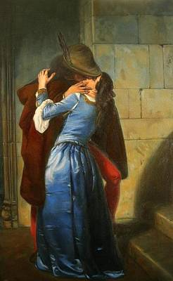 Hayez Painting - The Kiss by HJ Kennedy