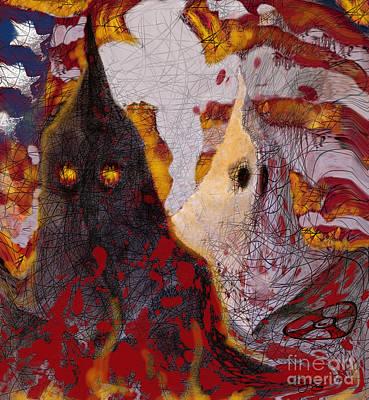 Racism Digital Art - The Klan by Carol Jacobs