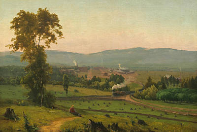 George The Painter Painting - The Lackawanna Valley by George Inness