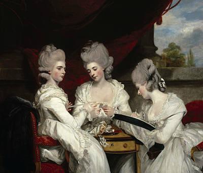 The Ladies Waldegrave Print by Joshua Reynolds