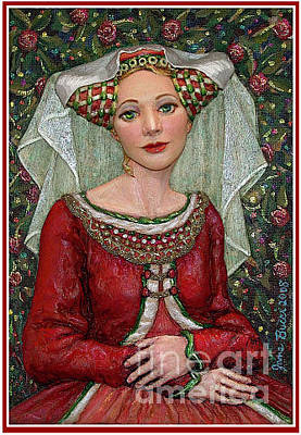 Bucci Painting - The Lady Mae   Bas Relief Miniature by Jane Bucci