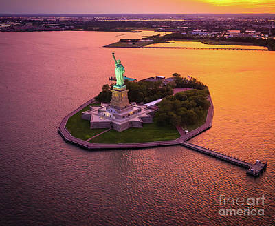 Liberty Building Photograph - The Lady On The Island by Inge Johnsson