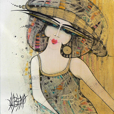 Painting - The Lady With A Hat 2 by Albena Vatcheva